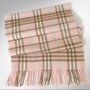 Authentic Burberry Pink Cashmere Scarf